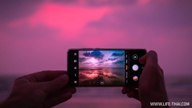 Закат на острове Борнео