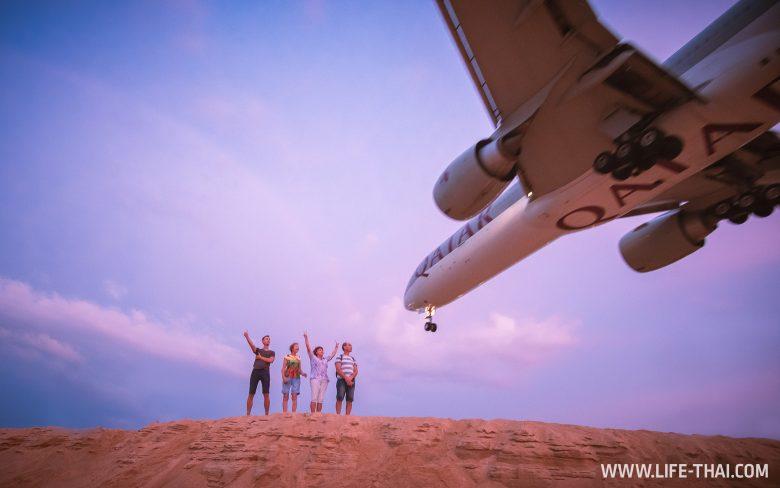 Пляж с самолетами Май Кхао на Пхукете