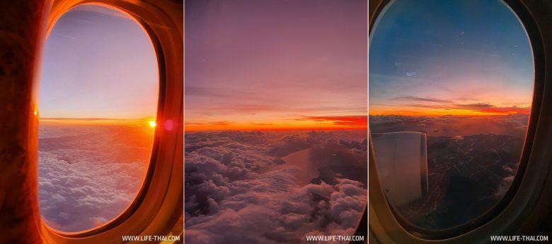 Закат над Босфором из иллюминатора