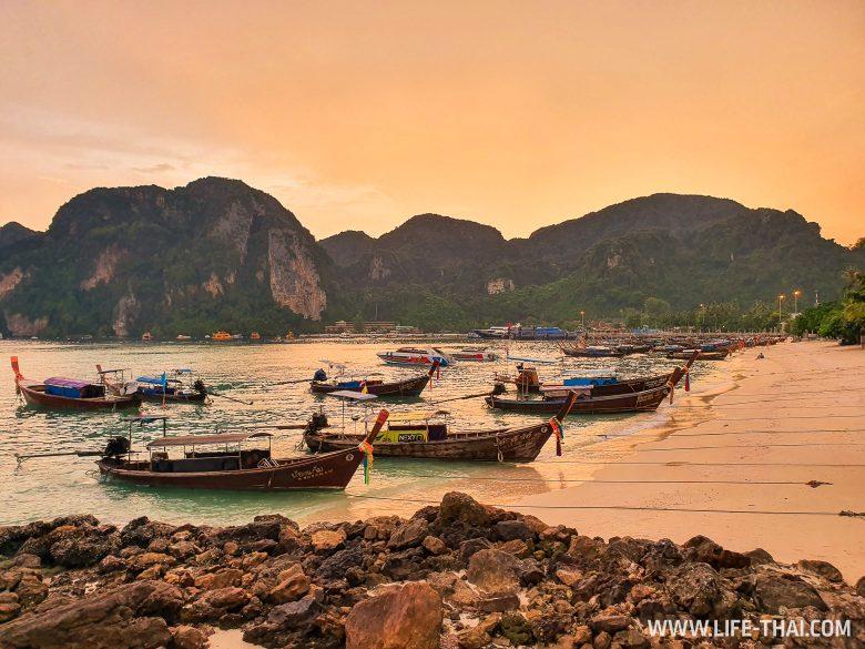 Закат на острове Пхи-Пхи