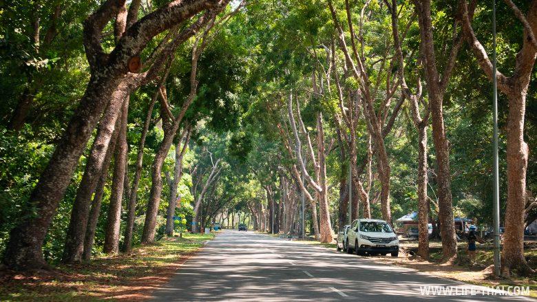 Дороги на острове Лабуан, Малайзия