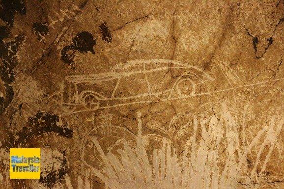 Наскальная живопись в пещер Gua Tempurung Малайзия