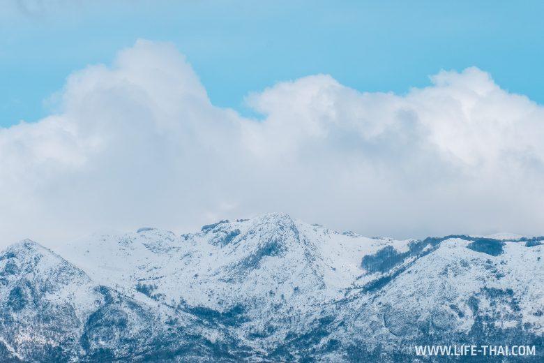 Снег в марте в Черногории