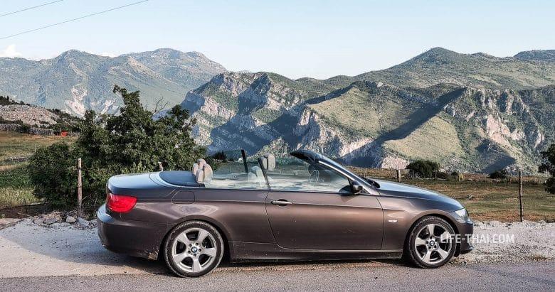 Аренда кабриолета BMW в Черногории - мой опыт