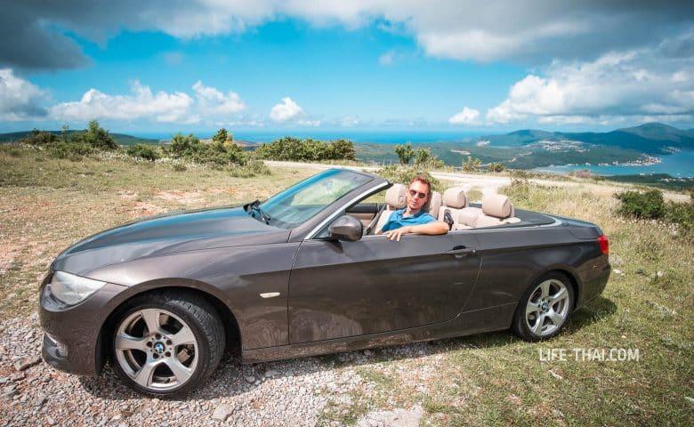 Впечатления от езды на кабриолете по Черногории