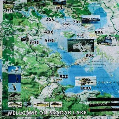 Сколько стоит прогулка на лодке по реке Црноевича
