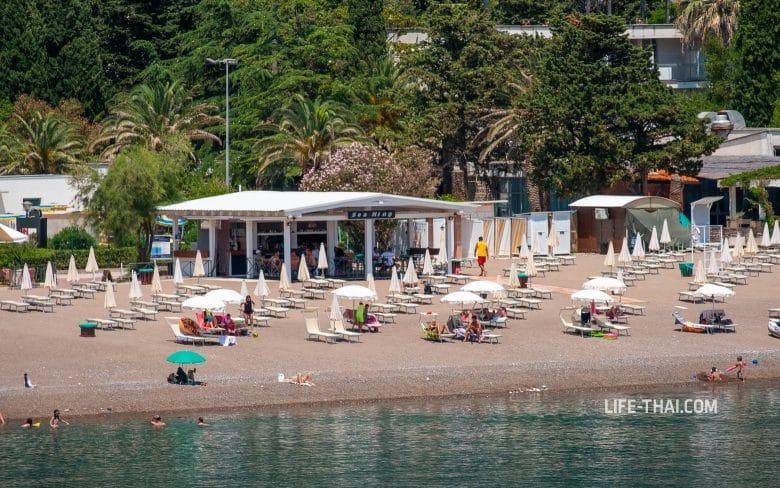 Пляж Becici в Черногории