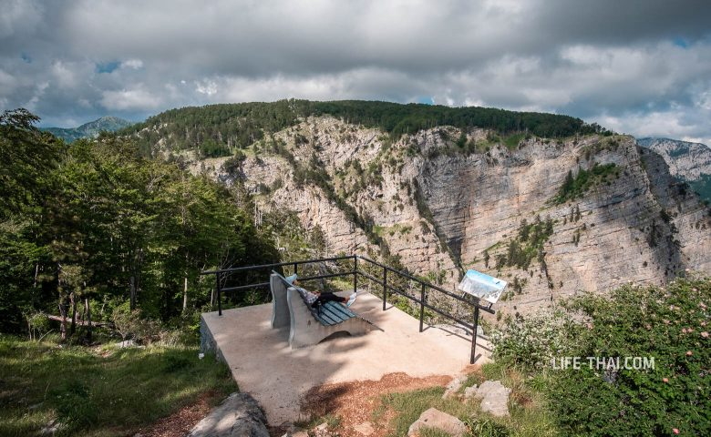 Смотровая Грло Соколово на каньон реки Циевна