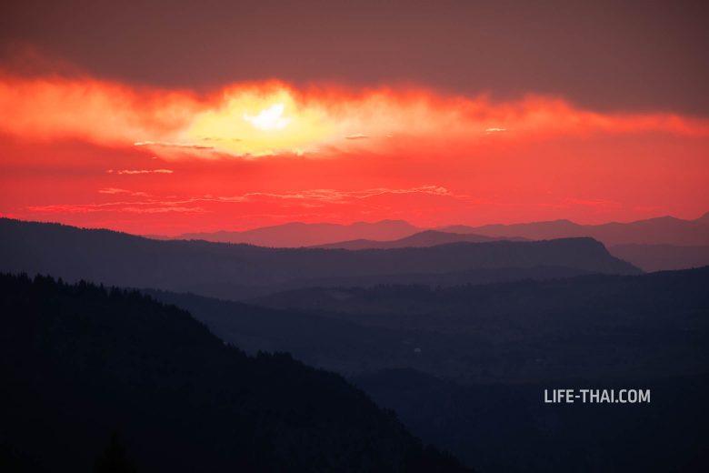 Закат в Дурмиторе - гора Чуривац