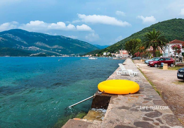 Отдых в Донья Ластва в Черногории - пляж