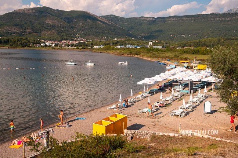Пляж Калардово на фото, Тиват