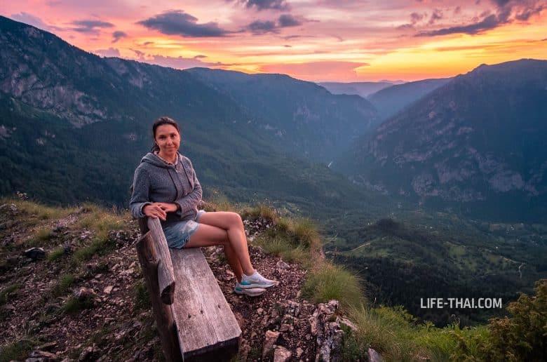 Закат на вершине Чуревац в нац. парке Дурмитор