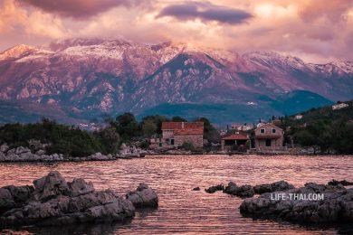 Зима в Черногории - великолепные закаты