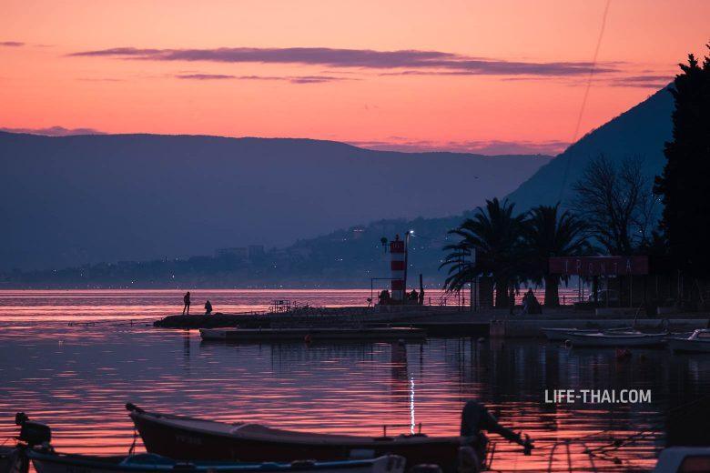 Закат в Тивате, Черногория
