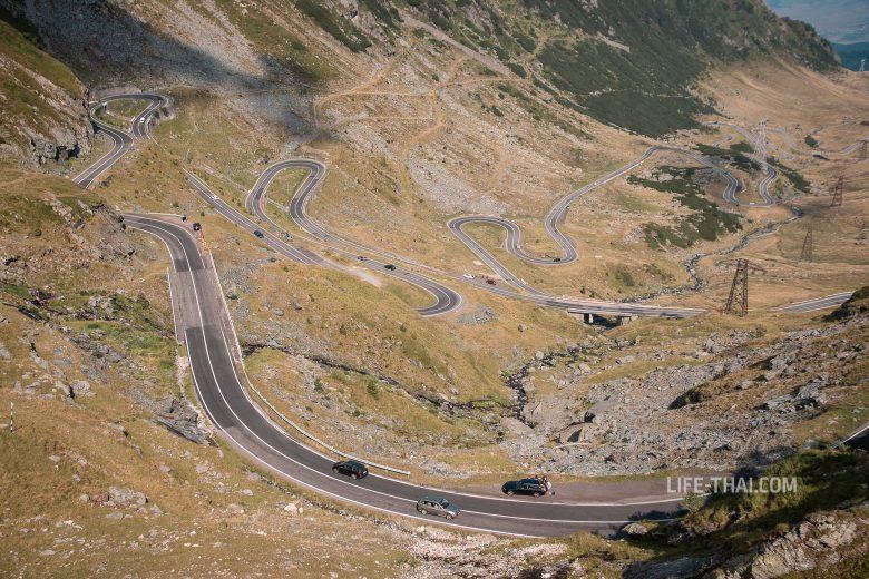 Дорога Трансфагараш в Румынии